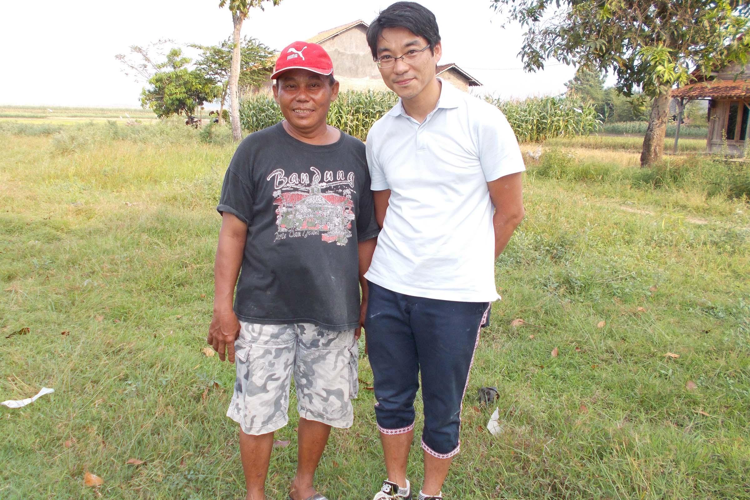 インドネシアの農場にて